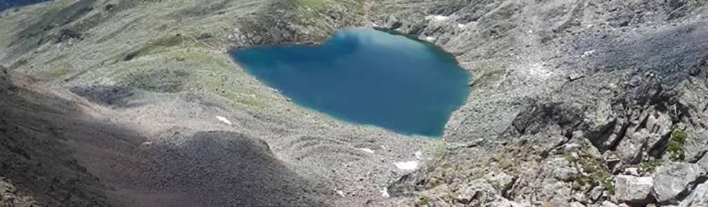 Herzformiger See